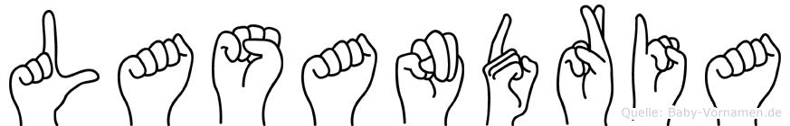 Lasandria im Fingeralphabet der Deutschen Gebärdensprache