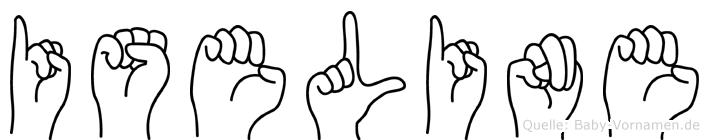 Iseline in Fingersprache für Gehörlose