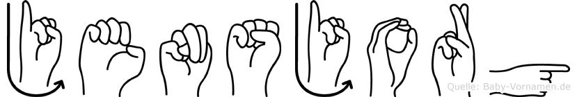 Jensjorg in Fingersprache für Gehörlose