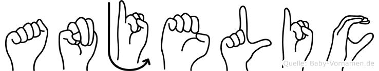 Anjelic in Fingersprache für Gehörlose