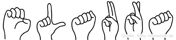 Elaura im Fingeralphabet der Deutschen Gebärdensprache