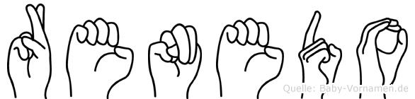 Renedo im Fingeralphabet der Deutschen Gebärdensprache