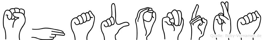Shalondra in Fingersprache für Gehörlose