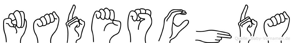 Nadeschda im Fingeralphabet der Deutschen Gebärdensprache