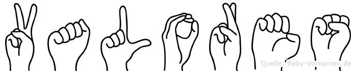 Valores in Fingersprache für Gehörlose