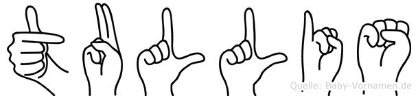 Tullis im Fingeralphabet der Deutschen Gebärdensprache