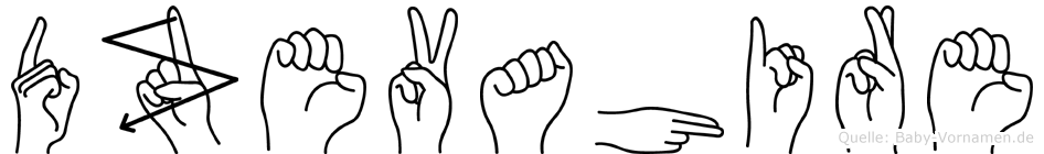 Dzevahire in Fingersprache für Gehörlose