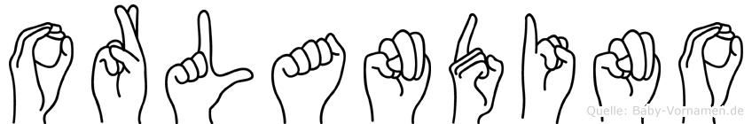 Orlandino im Fingeralphabet der Deutschen Gebärdensprache