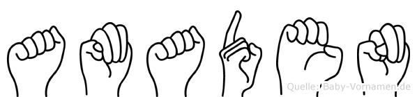 Amaden in Fingersprache für Gehörlose