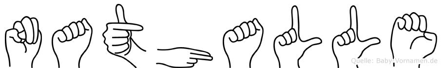Nathalle in Fingersprache für Gehörlose