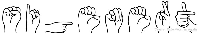 Sigenert im Fingeralphabet der Deutschen Gebärdensprache