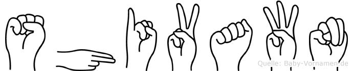 Shivawn in Fingersprache für Gehörlose