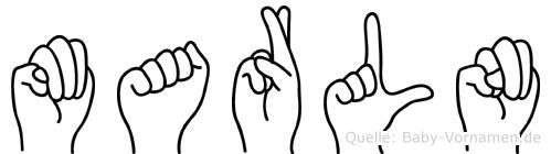 Marln im Fingeralphabet der Deutschen Gebärdensprache