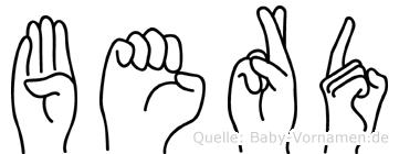 Berd in Fingersprache für Gehörlose