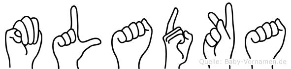 Mladka in Fingersprache für Gehörlose