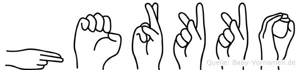 Herkko in Fingersprache für Gehörlose