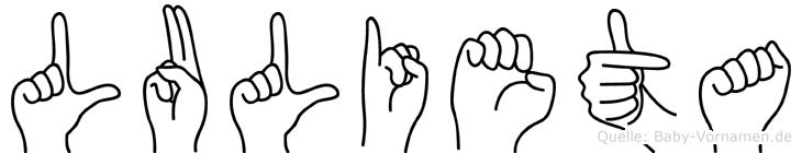 Lulieta in Fingersprache für Gehörlose