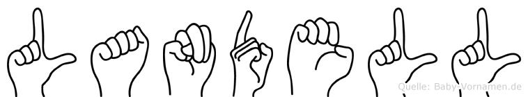 Landell in Fingersprache für Gehörlose