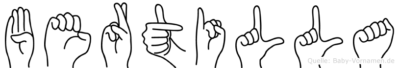 Bertilla in Fingersprache für Gehörlose