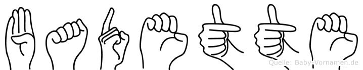 Badette in Fingersprache für Gehörlose