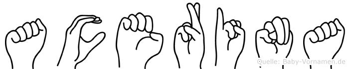 Acerina in Fingersprache für Gehörlose