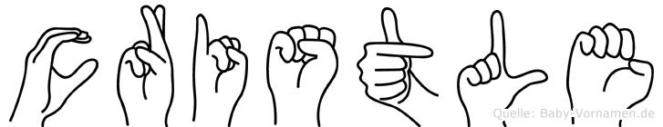 Cristle in Fingersprache für Gehörlose