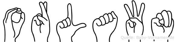 Orlawn im Fingeralphabet der Deutschen Gebärdensprache