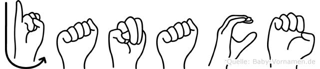 Janace in Fingersprache für Gehörlose