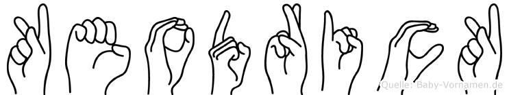 Keodrick im Fingeralphabet der Deutschen Gebärdensprache