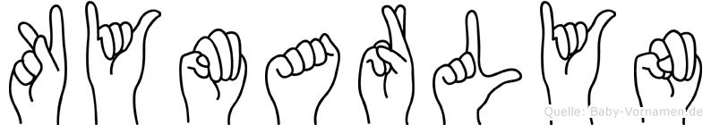 Kymarlyn im Fingeralphabet der Deutschen Gebärdensprache