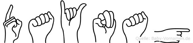 Daynag in Fingersprache für Gehörlose