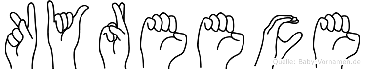 Kyreece in Fingersprache für Gehörlose
