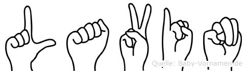 Lavin im Fingeralphabet der Deutschen Gebärdensprache