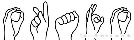 Okafo in Fingersprache für Gehörlose