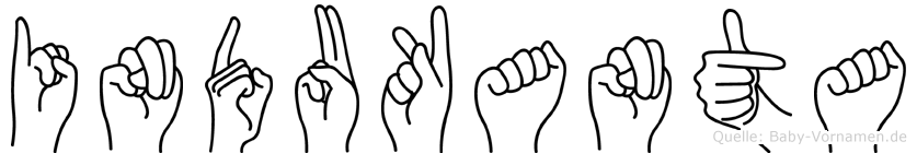 Indukanta im Fingeralphabet der Deutschen Gebärdensprache