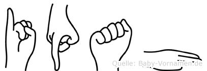Ipah in Fingersprache für Gehörlose