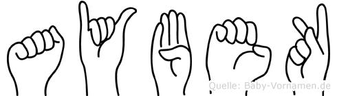 Aybek in Fingersprache für Gehörlose