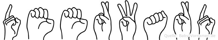Deerward in Fingersprache für Gehörlose