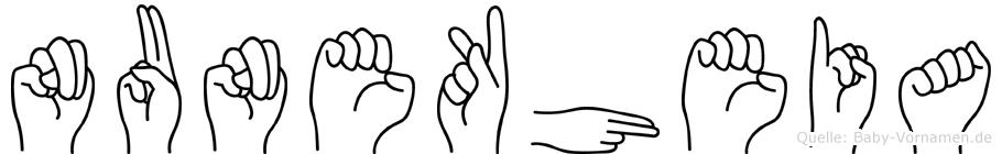 Nunekheia in Fingersprache für Gehörlose