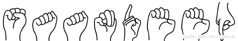 Saandeep in Fingersprache für Gehörlose