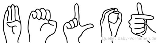 Belot in Fingersprache für Gehörlose