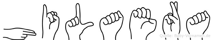 Hilaera im Fingeralphabet der Deutschen Gebärdensprache