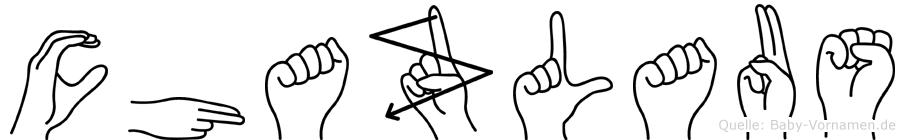 Chazlaus im Fingeralphabet der Deutschen Gebärdensprache