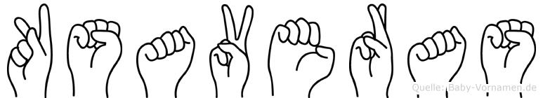 Ksaveras in Fingersprache für Gehörlose