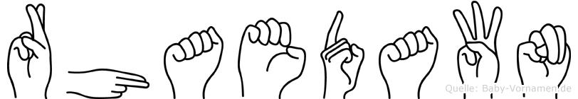 Rhaedawn in Fingersprache für Gehörlose