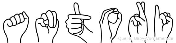 Antori in Fingersprache für Gehörlose