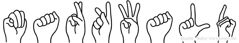 Markwald in Fingersprache für Gehörlose