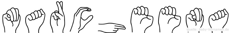Marcheena in Fingersprache für Gehörlose