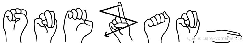 Snezanh im Fingeralphabet der Deutschen Gebärdensprache