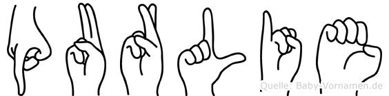 Purlie in Fingersprache für Gehörlose